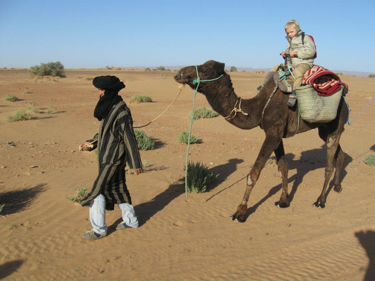 desert_sahara_camel_kids_morocco