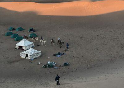 kamperen in sahara