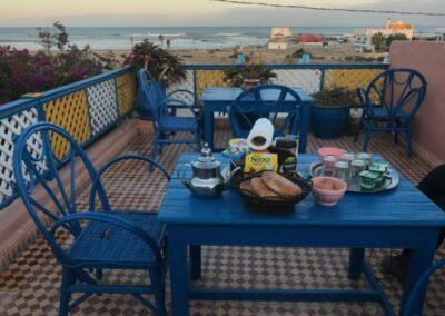 Ontbijt met zicht op zee