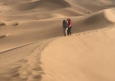 klimmen in het zand...even doorbijten